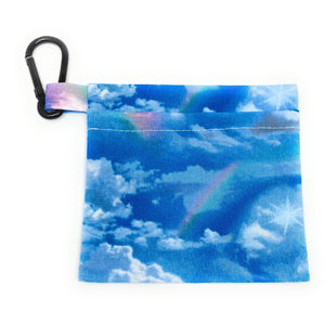Rainbow Cloud Face Mask Holder | Locked Down Designs