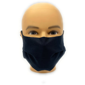 Solid Black 100% Cotton Face Mask | Locked Down Designs | In-Stock