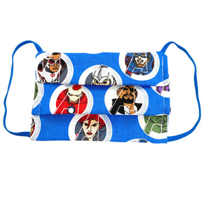 Marvel MCU Avengers Face Mask, Hulk, Captain America, Black Widow