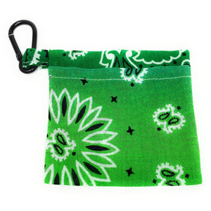 Green Bandana Face Mask Holder | Locked Down Designs