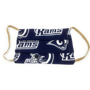 NFL LA Rams Football Face Mask | Locked Down Designs  | In Stock
