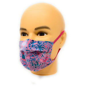 Pinky Blue Batik Face Mask | Locked Down