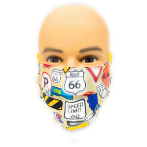 Route 66 Face Mask | Locked Down Designs