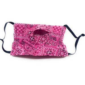 Hot Pink Bandana Face Mask | Locked Down Designs
