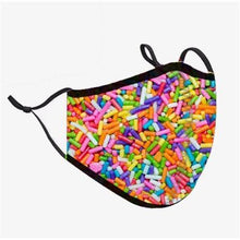 Load image into Gallery viewer, Top Trenz Rainbow Sprinkles Face Mask - Locked Down Designs
