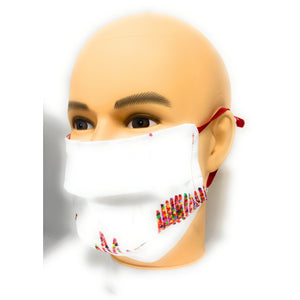 White Heartbeat Face Mask | Locked Down Designs