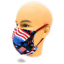 Load image into Gallery viewer, USA Patriotic Flag Face Mask | Locked Down Designs