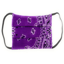 Load image into Gallery viewer, Purple Bandana Face Mask | Locked Down Designs