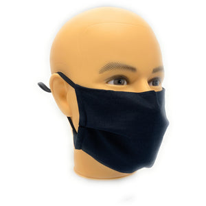 Solid Black Face Mask | Locked Down Designs | In-Stock