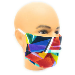 Vibrant Geometric Face Mask | Locked Down Designs