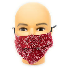 Load image into Gallery viewer, Red Bandana Face Mask | Locked Down Designs