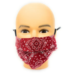 Red Bandana Face Mask | Locked Down Designs