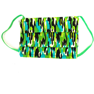 Neon Green Camo Face Mask | Locked Down Designs