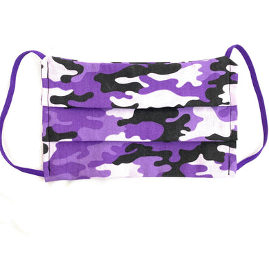 Purple Camo Face Mask | Locked Down Designs