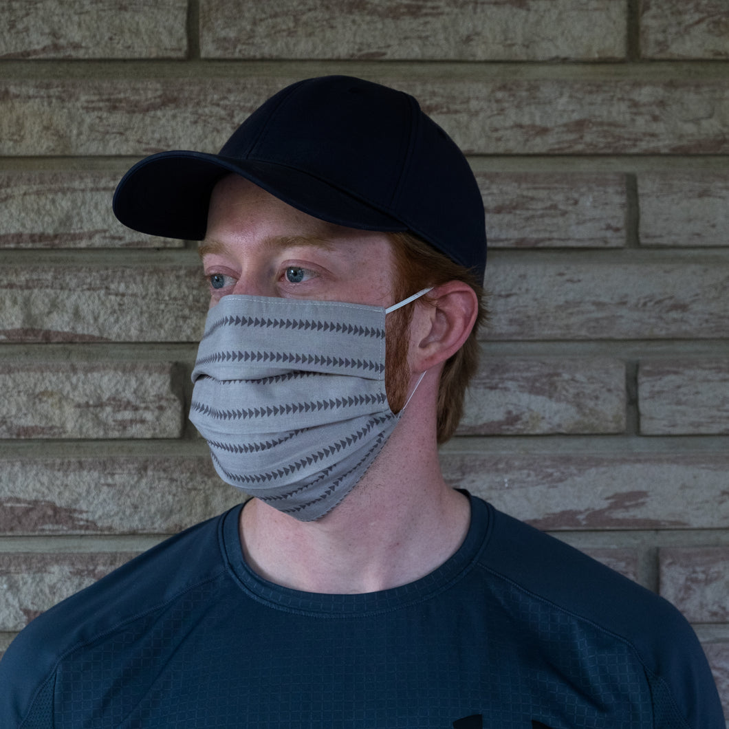 Grey Triangle Face Mask
