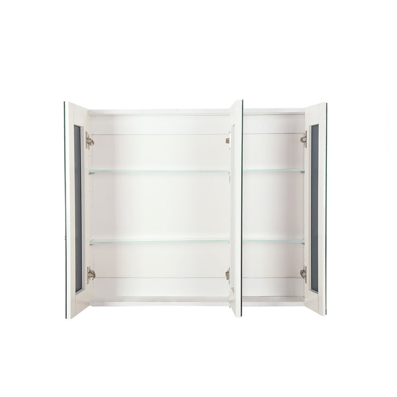 Cefito Bathroom Vanity Mirror with Storage Cabinet - White - Cefito