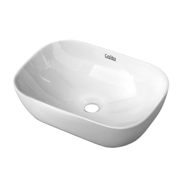 Cefito Ceramic Bathroom Basin Sink Vanity Above Counter Basins White Hand Wash - Cefito