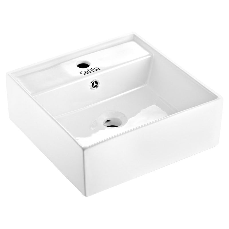 Cefito Ceramic Rectangle Sink Bowl - White - Cefito