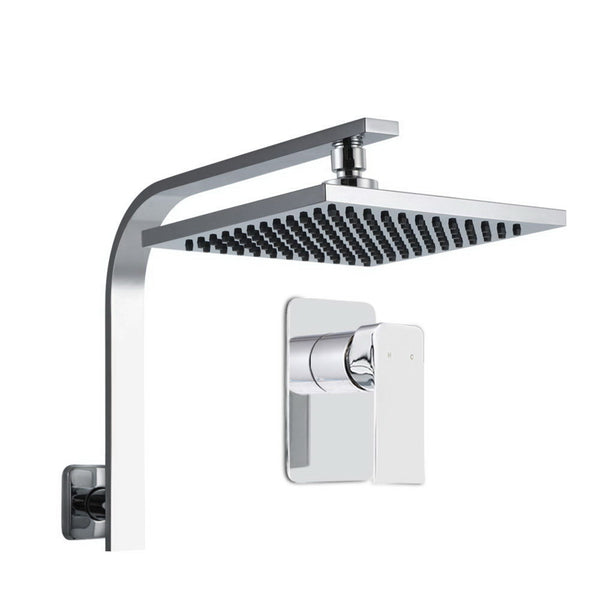 Cefito WELS 8 Rain Shower Head Set Bathroom Gooseneck Square Mixer Hand Held High Pressure - Cefito