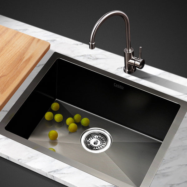 Cefito 450 x 300mm Stainless Steel Sink - Black - Cefito
