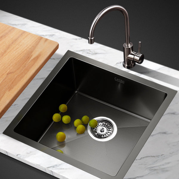 Cefito 440 x 440mm Stainless Steel Sink - Black - Cefito