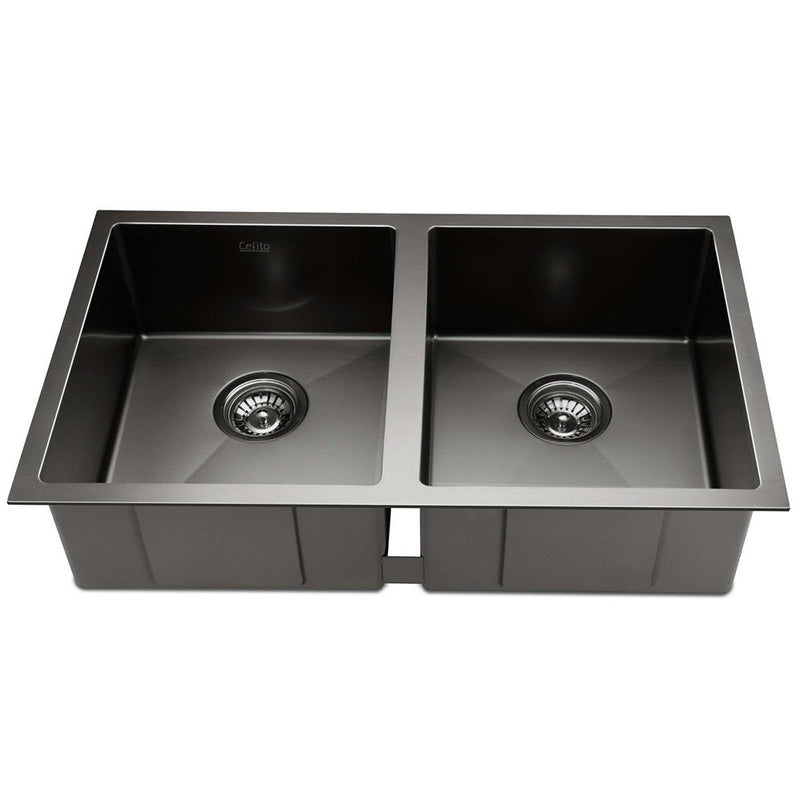 Cefito 770 x 450mm Stainless Steel Sink - Black - Cefito