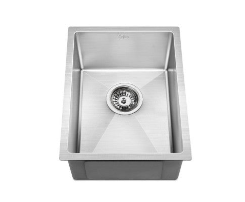 Cefito 340x440mm Stainless Steel Kitchen Laundry Sink Single Bowl Nano Silver - Cefito