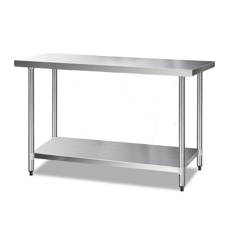 Cefito 1524 x 610mm Commercial Stainless Steel Kitchen Bench - Cefito