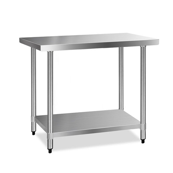 Cefito 610 x 1219mm Commercial Stainless Steel Kitchen Bench - Cefito
