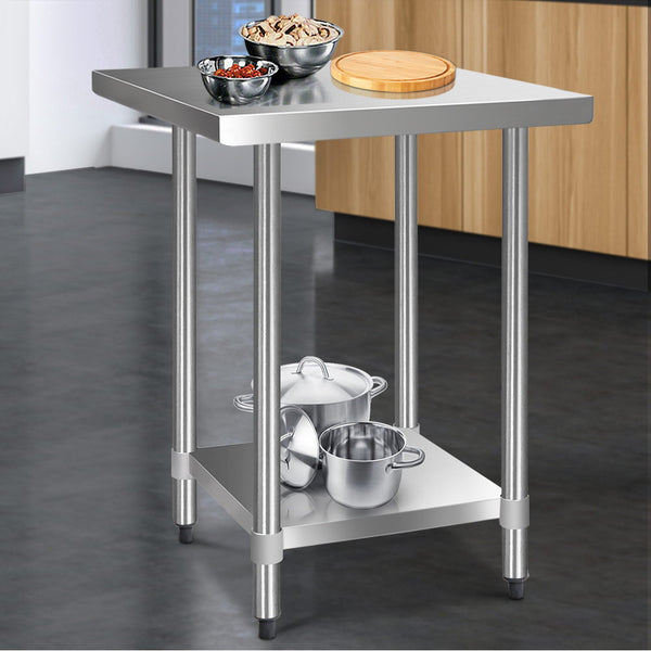 Cefito 762 x 762mm Commercial Stainless Steel Kitchen Bench - Cefito