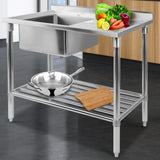 Cefito 100x60cm Commercial Stainless Steel Sink Kitchen Bench - Cefito