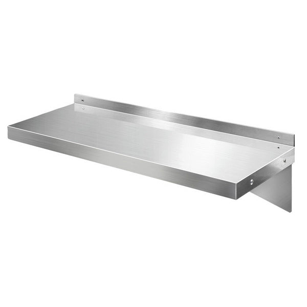 Cefito Stainless Steel Wall Shelf Kitchen Shelves Rack Mounted Display Shelving 900mm - Cefito