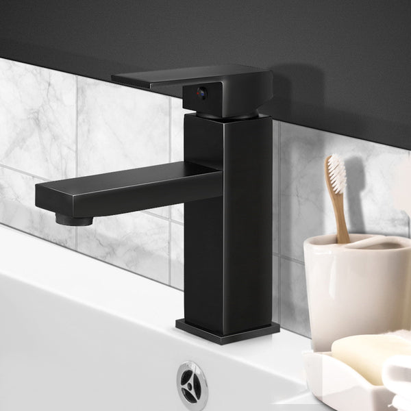 Cefito Basin Mixer Tap Faucet Bathroom Vanity Counter Top WELS Standard Brass Black - Cefito