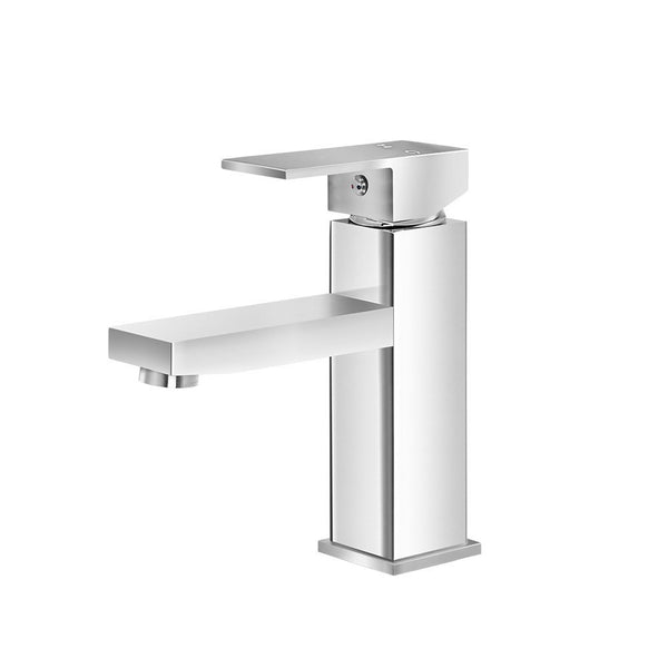 Cefito Basin Mixer Tap Faucet Bathroom Vanity Counter Top WELS Standard Brass Silver - Cefito