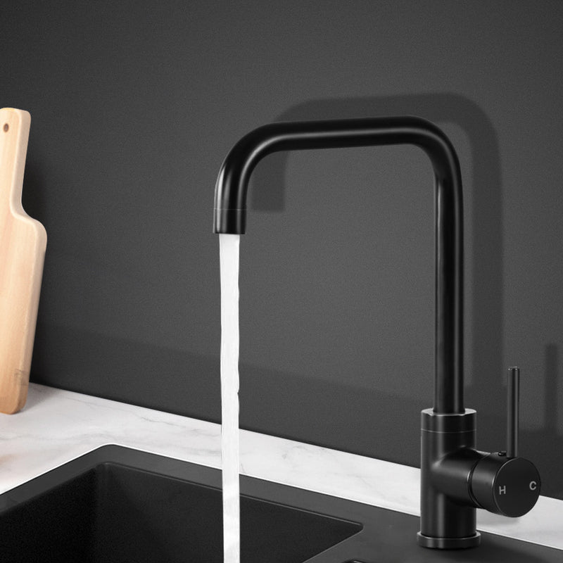 Cefito Mixer Kitchen Faucet Tap Swivel Spout WELS Black - Cefito
