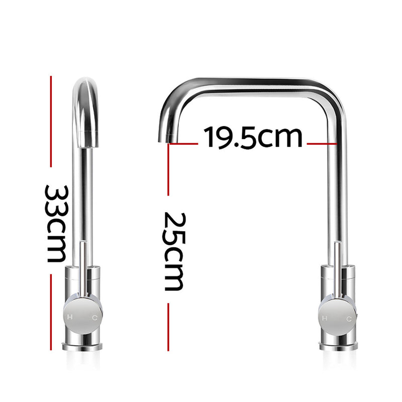 Cefito Mixer Kitchen Faucet Tap Swivel Spout WELS Silver - Cefito