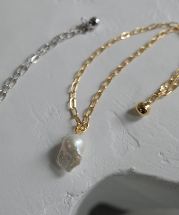 Limited・Nudeネサンス・バロックパールNecklace