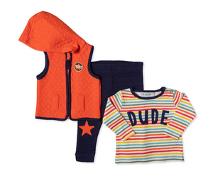 3pc Dude Vest Set