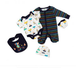 5pc Animals in Cars Velour Set