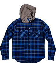 Load image into Gallery viewer, DC Mens Flannel Long Sleeve w/ Hood