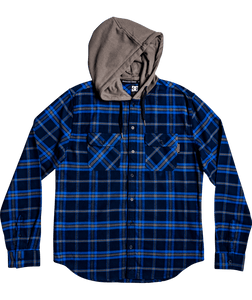 DC Mens Flannel Long Sleeve w/ Hood