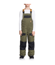 Load image into Gallery viewer, DC Roadblock Olive Bib Snow Pant
