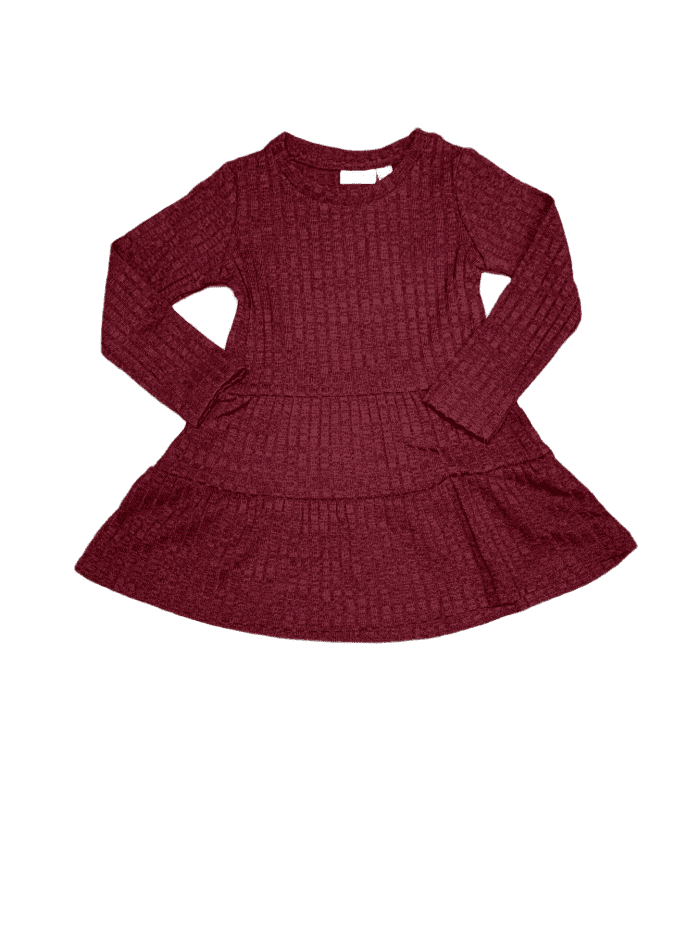 Burgandy Loose Dress