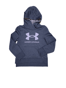 UA Fury Camo Hoodie Blackout Purple