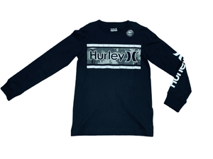 Hurley Black Camo Logo Long Sleeve