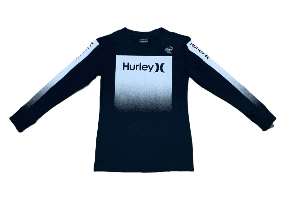 Hurley Black Gradiant Long Sleeve