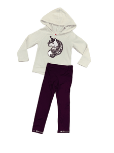 2pc Unicorn Sequin Hoodie Set