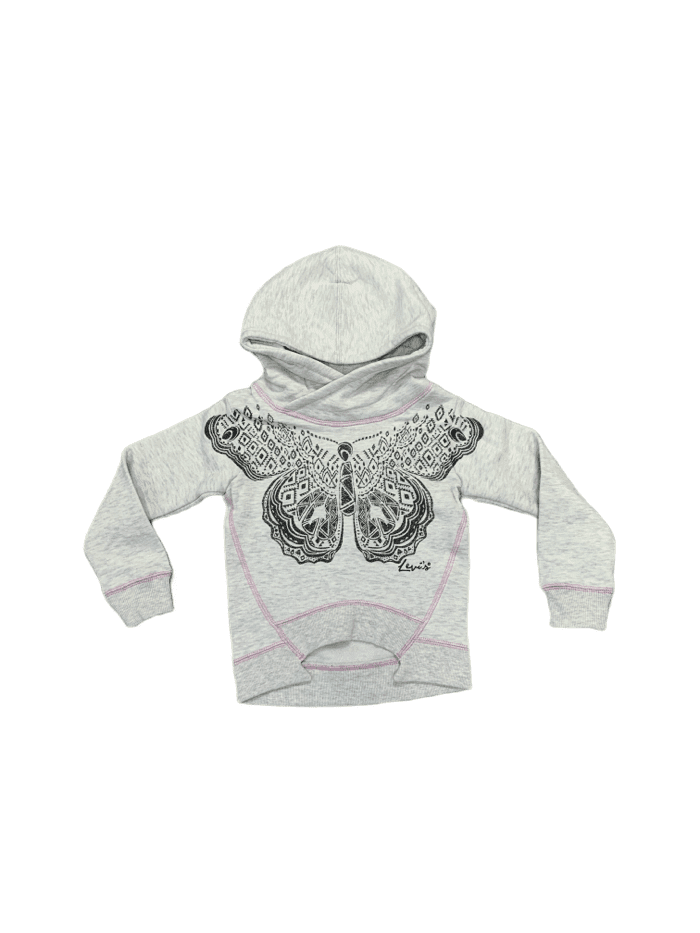 Levi's Oatmeal Heather Butterfly Hoodie