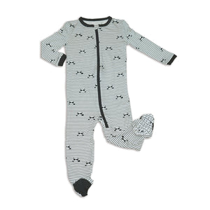 Silkberry Bamboo Footed Sleeper with Zipper (Panda)