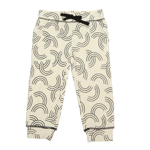 Bamboo Fleece Sweat Pants (Rainbow Toss Print